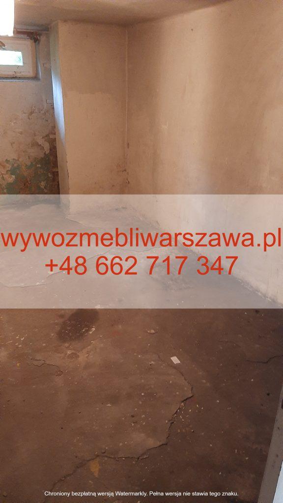 Opróżnianie piwnic Warszawa